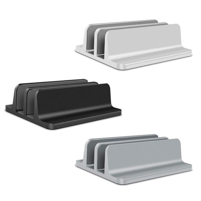 Aluminum Alloy Vertical Laptop Stand Desktop Stand Adjustable Laptop Notebook Macbook Air Pro Stand Holder Black Gray Silver