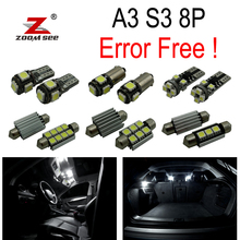 12pc X canbus LED Interior dome map Light Kit Package for Audi A3 S3 8P (2003-2013)