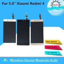 Лучшие M & Sen для 5,0 «Xiaomi Redmi 4 Hongmi 4 (2 ГБ Оперативная память 16 ГБ Встроенная память) ЖК-дисплей экран + сенсорный планшета черный/белый/золото для Redmi 4 ЖК-дисплей