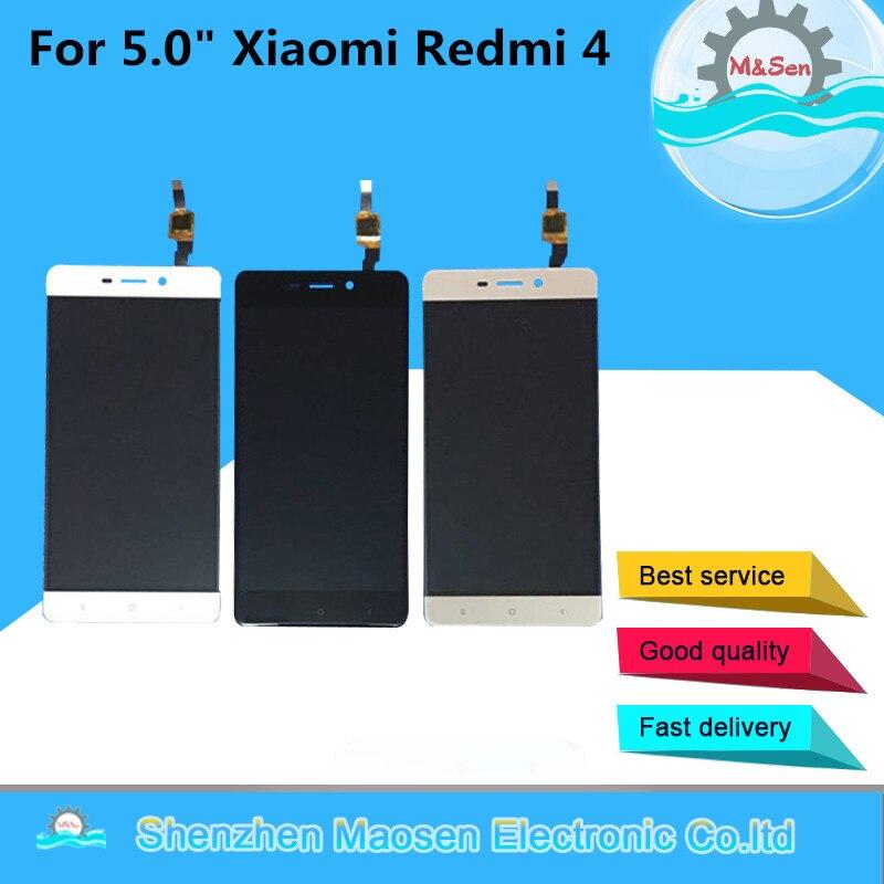 M & Sen pour 5.0 Xiaomi Redmi 4 (2GB RAM 16GB ROM) écran LCD + écran tactile numériseur pour Redmi 4 assemblée LCD affichage
