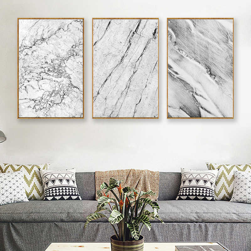 Modern Abstract Marble Texture Art Decorative Painting Canvas Painting Art Abstract Print Poster Picture Wall Home Decor