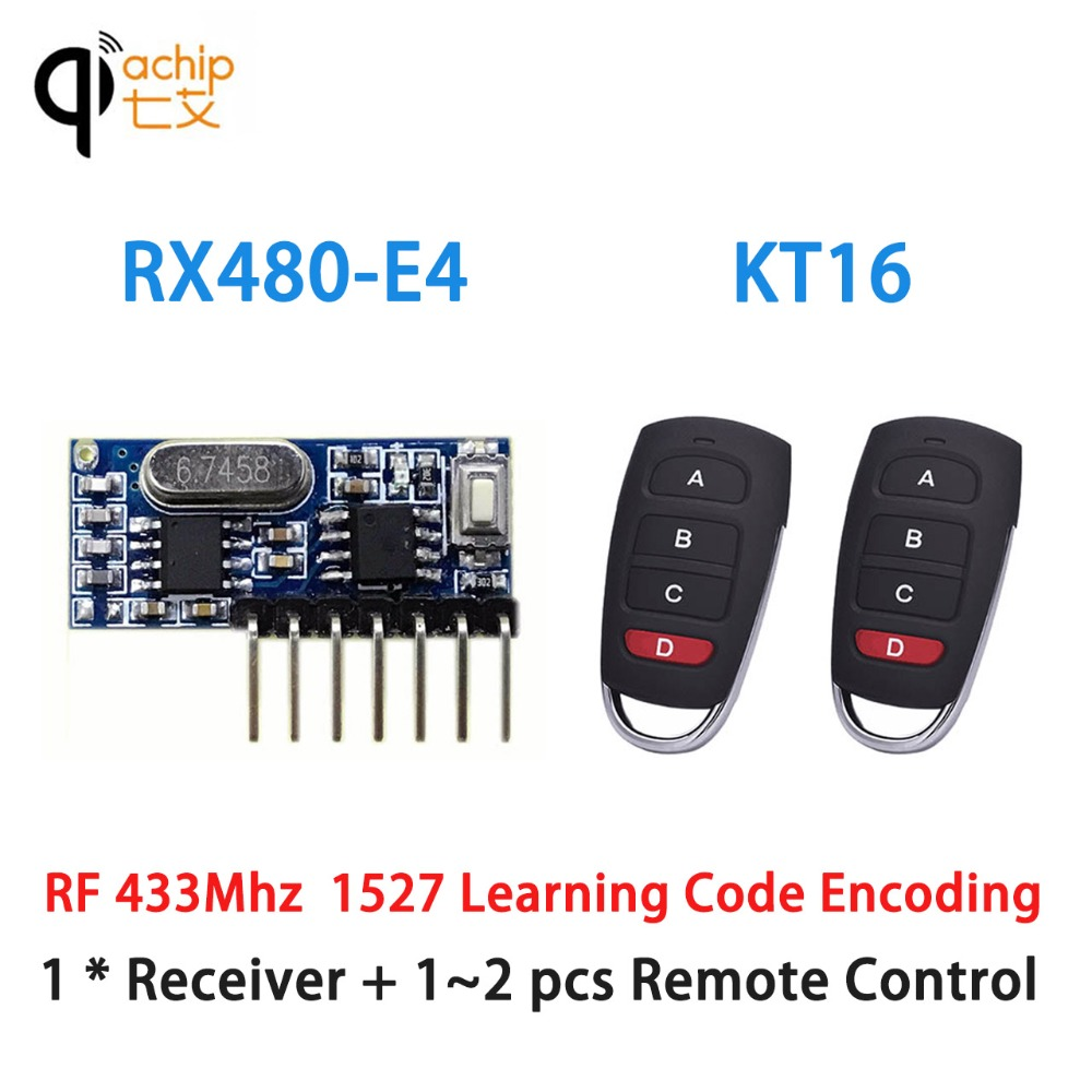 Qiachip 433mhz Cloning Remote Control Duplicator Clone Fixed Audio Receiver 433 Mhz Rf Module Using Circuit Diagram Nonstop Free In 1527 Learning Code 4ch 4 Channel Ev1527 Wireless Transmitter For 43392