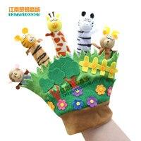 Super leuke 23 cm 1 st bos little animal onderwijs slaap verhaal pluche pacificeren handschoen handpop pop game speelgoed baby gift