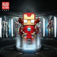 Marvel Bricks Toys Iron Man Super Man Spider Man Captain America Super Hero LEGOing Walking Bricks Remote Tech Children Gifts