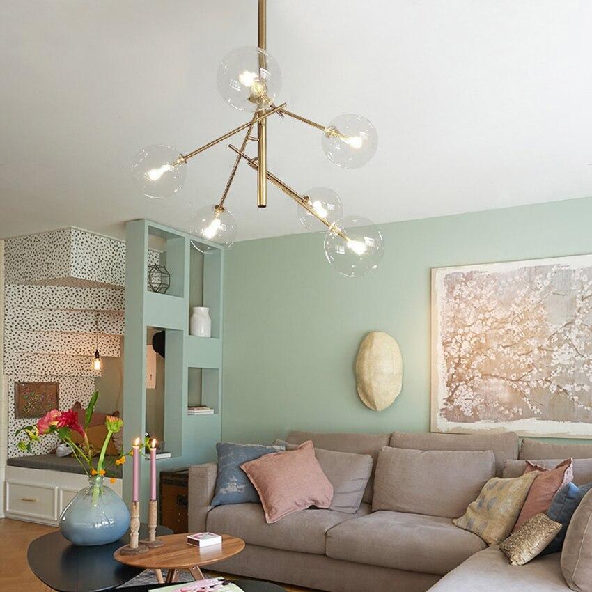 JAXLONG LED Postmodern Personality Pendant Lights Magic Beans Glass Pendant Lamp American Living Room Dining Bedroom Luminaire in Pendant Lights from Lights Lighting