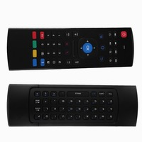 2.4G Smart Afstandsbediening Air Mouse Draadloze Toetsenbord 38 toetsen voor MX3 Android Mini PC TV Box Afstandsbediening Voor Laptop Zwart