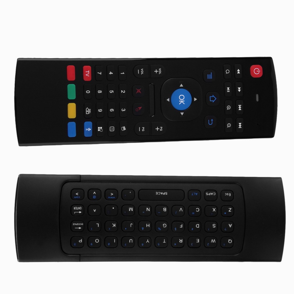 2.4G Smart Remote Control Air Mouse Wireless Keyboard 38 keys for MX3 Android Mini PC TV Box Remote Control For Laptop Black