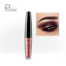 Pudaier Brand Eyeliner 16 Colors Red White Gold Super Glitter New Waterproof Eye Liner Sparkle Liquid