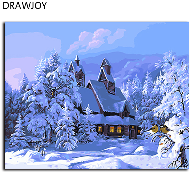 Buy drawjoy framed diy oil painting by for Where to buy canvas art