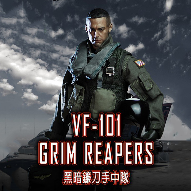 1/6 Scale US Navy VF-101Grim Reapers Combat Suit Clothes (Without Body and Head) for 12 inches Male Action Figure мазь лыжная луч vf 1
