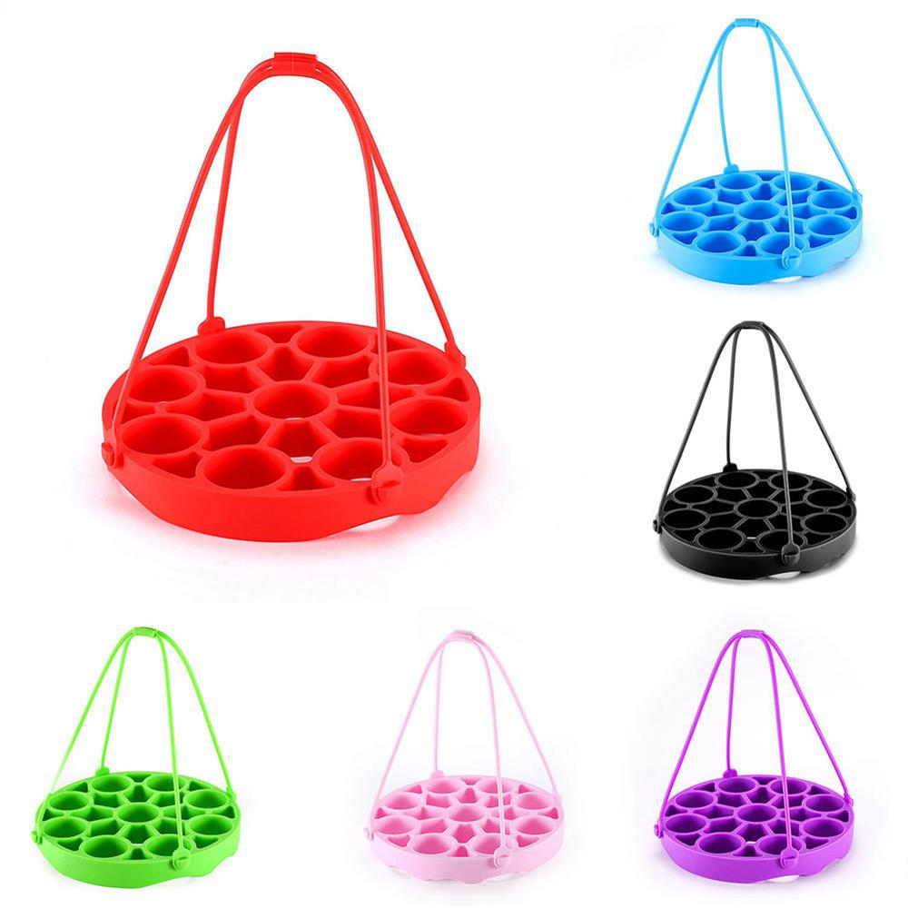 Multifunctional Silicone Steamer Steamed Egg Steamed Egg Rack Removable Kitchen Tableware Insulation Pad Household Accessories
