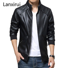2018 New Leather Jackets Men Autumn Winter Clothing clothes Male Business casual Coats