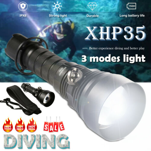 1000M Underwater Waterproof 2300LM 30W  LED Diving Flashlight Waterproof Torch