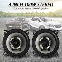 Pair 4 Inch 10cm Car Speakers /Car Tweeters Dual Cone Coaxial Car Van Front Rear Door Dash