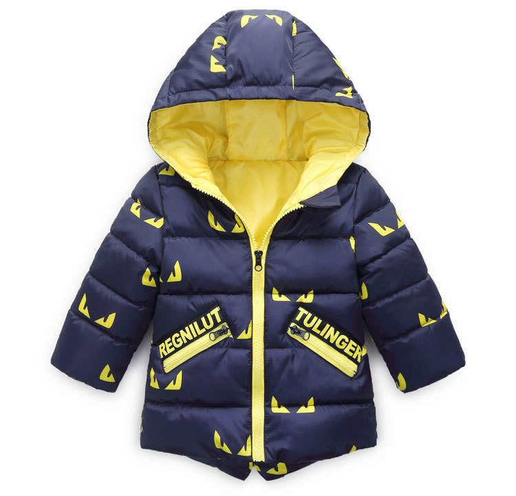 FIged Baby Outwear Solid Zip Long Sleeves Warm Winter Tops Casual Clothes Coat