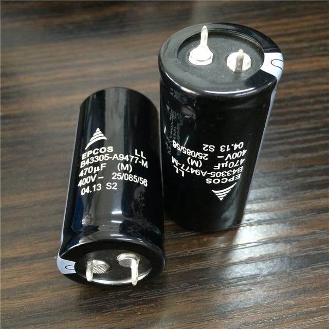 10pcs 470 UF 400V EPCOS B43305 Series 25x50 มม.400V470uF PSU ตัวเก็บประจุอลูมิเนียมอิเล็กโทรลีติค