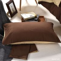 2pcs Lot Cotton Blend Pillowcase Solid Color Pillow Cover Duble Side Can Be Used