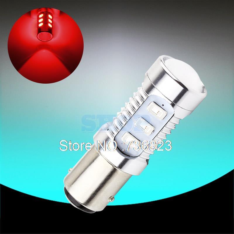 Cree Led Chips 1157 BAY15D 12 led Samsung Chips  smd High Power lamp brake Lights Red p21/5w led car bulbs Car Light Source 12V