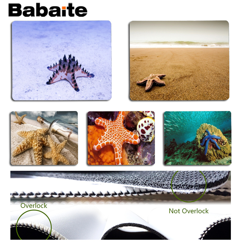 Babaite 2018 New Starfish Customized MousePads Computer Laptop Anime Mouse Mat Size for 180x220x2mm and 250x290x2mm Mousepad