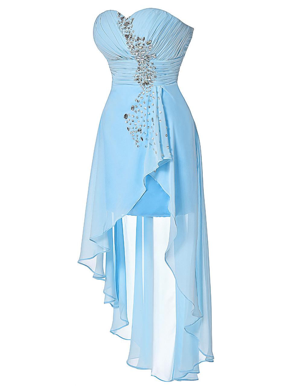 HTB1xmD9KVXXXXbhXpXXq6xXFXXXSHigh Low Short Front Long Back Strapless Dress