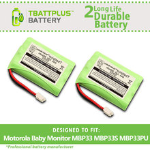 2Pack  900mAh Replacement Battery for Motorola Baby Monitor MBP33 MBP33S MBP33PU MBP36 MBP36S MBP36PU