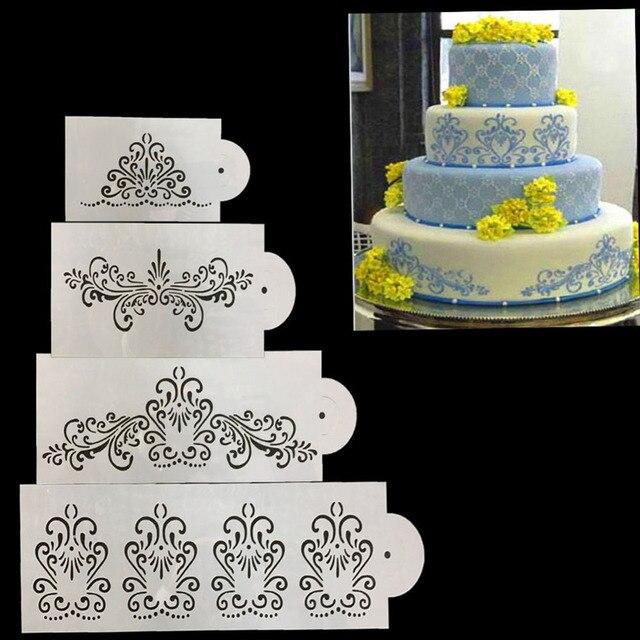 Wedding cake stencil border kitchen cake border flower decoration wedding cake stencil border kitchen cake border flower decoration accessories stencils for wall wedding cake stencil junglespirit Image collections