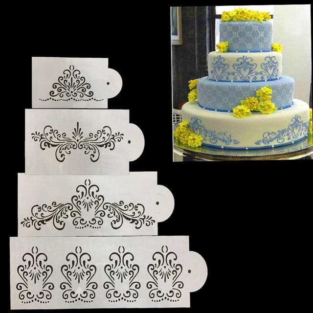Wedding cake stencil bordo di frontiera torta da cucina flower ...