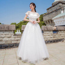 Angel Wedding Dress Marriage Bride Bridal Gown Vestido De Noiva 2017 Cents immortal lotus leaf, Phi yarn, thin 8186