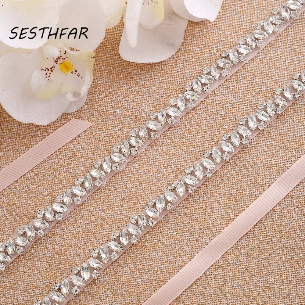 Beaded Rhinestones Wedding Belt Crystal Belt Pearls Bridal Belt For Dress In Stock J131 Wedding Accessories J135S