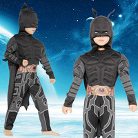 New Child Luxury Muscle Dark Knight Bats Child Halloween Party Fancy Dress Boy Carnival Cosplay Clothing