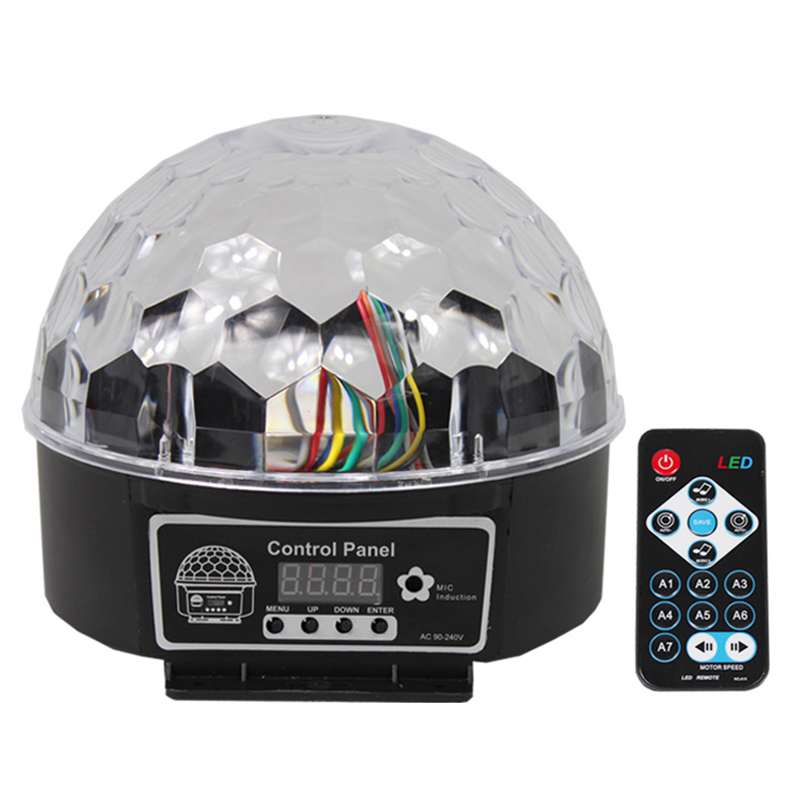 Magic Ball Led Stage Lamp Voice Control Disco Stage Lighting Digital Christmas Projector DJ Disco Effect Light