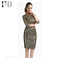 New 2015 Bodycon Women Dress Sexy Slim Hip Mini Sequin Dress Sequins Paillette Club Party Vestido