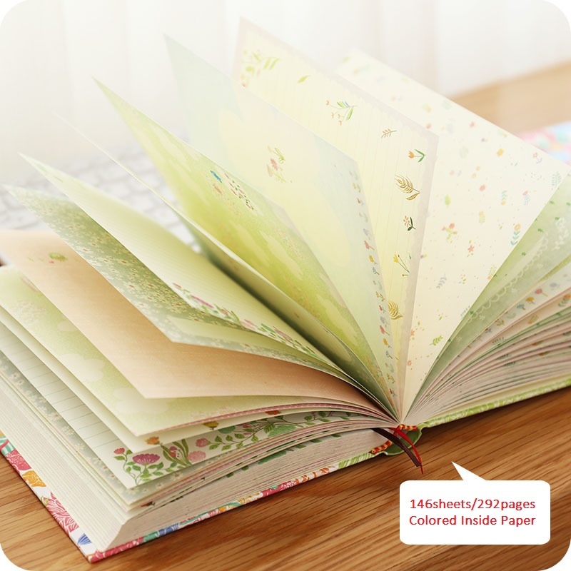Kawaii Korean Colored Notebook, Thickness Students Writing Notepad, Drawing Planner Scrapbooking Thick Book