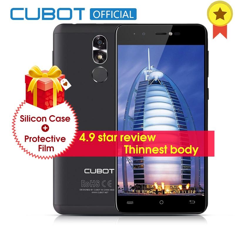 Cubot R9 MT6580 Quad Core Android 7.0 D'empreintes Digitales 2 gb RAM 16 gb ROM Smartphone 5.0 pouce 1280x720 HD Écran 13.0MP Caméra Celular