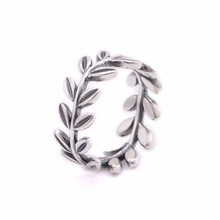 CKK 100% 925 Sterling Silver Leaves silver Rings for Women Diy Fine Jewelry Free shipping PFR023