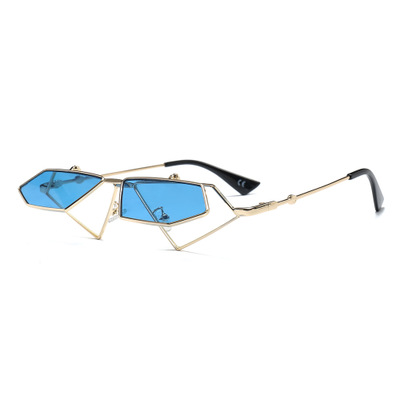 COOLSIR Red Cat Eye Sunglasses Women Retro Men Two Lens Small Sun Glasses Metal Frame Ladies Sexy Sun Glasses Clear Lens Glasses in Women 39 s Sunglasses from Apparel Accessories