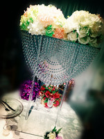 80cm Tall acrylic crystal table centerpiece flower stand Wedding Decoration 4pcs/lot