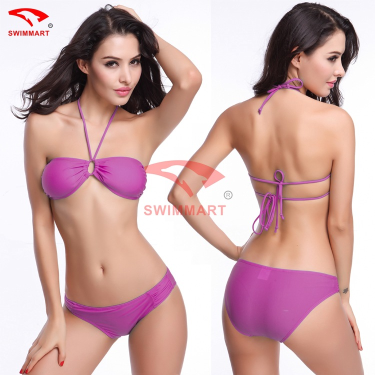High Quality Women Brazilian Low Waist Sexy Bikini Set Swimwear Swimsuit Bathing Suit Bikini Halter Swimsuit Bra With High-grade