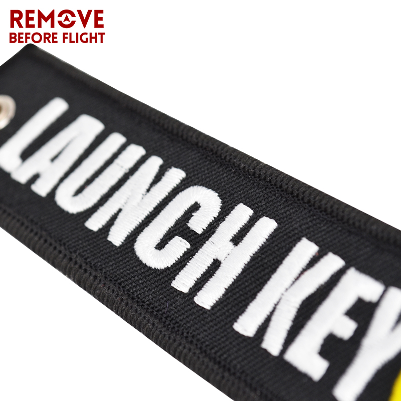 New Fashion Nuclear Launch Key Chain Bijoux Keychain for Motorcycles and Cars Gifts Tag Embroidery Key Fobs OEM Keychain Bijoux (11)