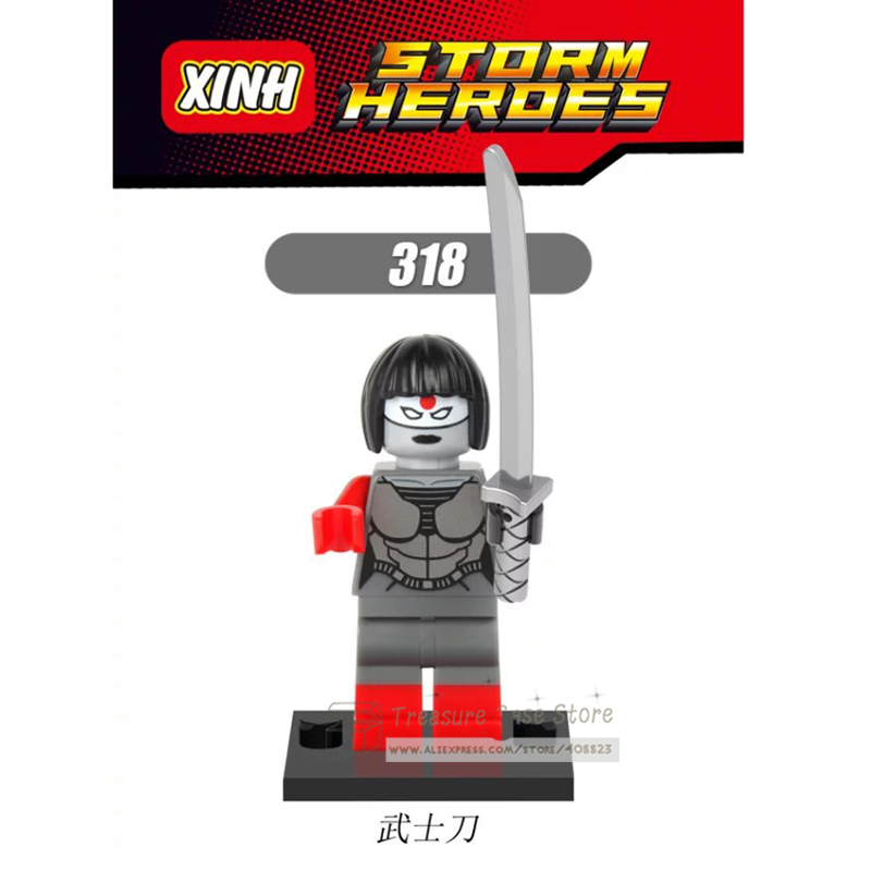 NO.318 Samurai Blade Individual Figure Super Hero Building Toys Blocks