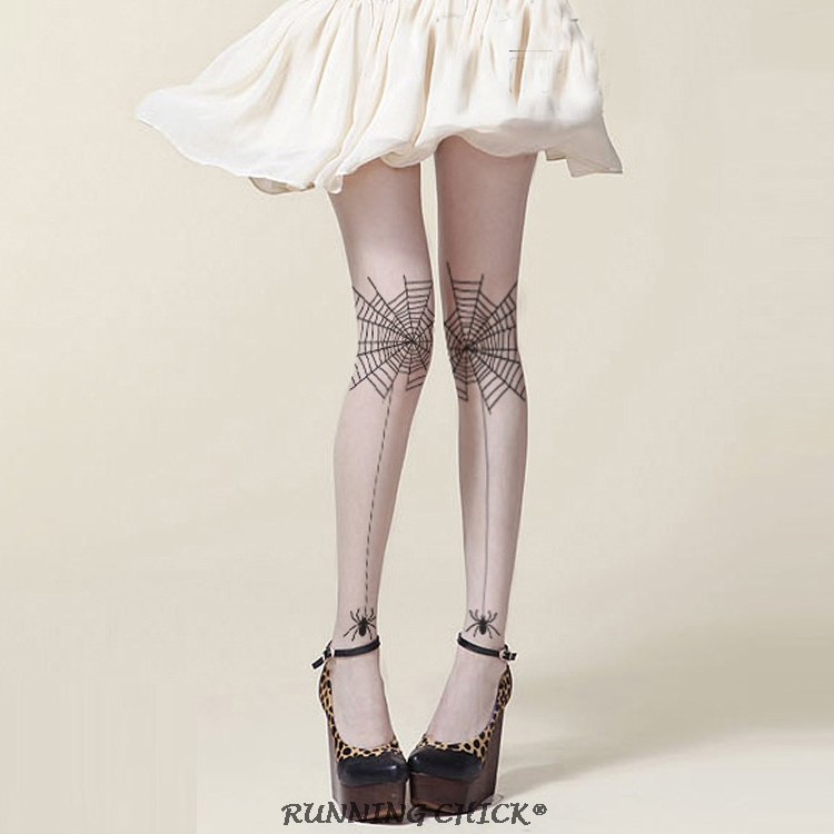 Front Legs Spider Knotted Pantyhose Thin Women