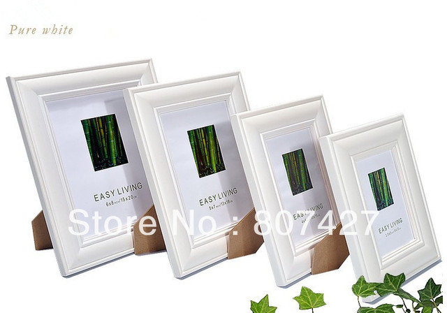 A4 European table setting real wood frame picture frame hanging wall ...