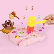 15 см, детский свисток, тренировочный, для маленьких детей, с ручкой, пластиковый, прочный, встроенный свисток, игрушки для малышей, молоток, хлопушка