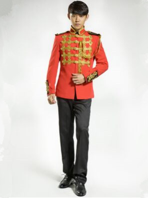 red royal top for men royal costume royal soldier costume ...