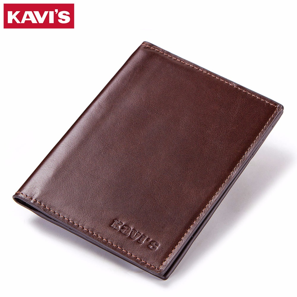 KAVIS Genuine Leather Passport Cover ID Business Card Holder Travel Credit Wallet for Men Purse Case Rfid Driving License Male genuine leather russian passport cover id business card holder travel credit wallet for women a598 driving license passport case