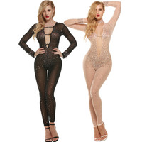 High end Gypsophila Women Sex Costumes Ladies Hot Sexy Lingerie Transparent Erotic Underwear Babydolls Sleepwear Body Stocking
