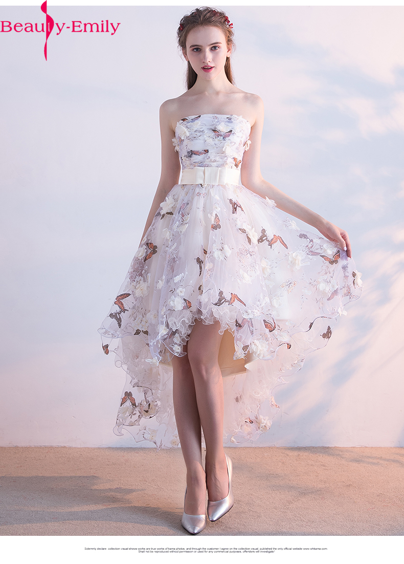 Fairy Short Evening Dress Hot Sale floral printing chiffon Party Gown  Formal Dress Custom Homecoming Dresses Robe De Soiree