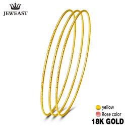 18k Pure Gold Bangles 2017 New Rose Yellow Women Bracelets Customize 750 Hot Sale Elegant Temperament Party Classic Round GOOD