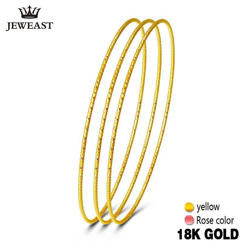 18k Pure Gold Bangles 2020 New Rose Yellow Women Bracelets Customize 750 Hot Sale Elegant Temperament Party Classic Round GOOD