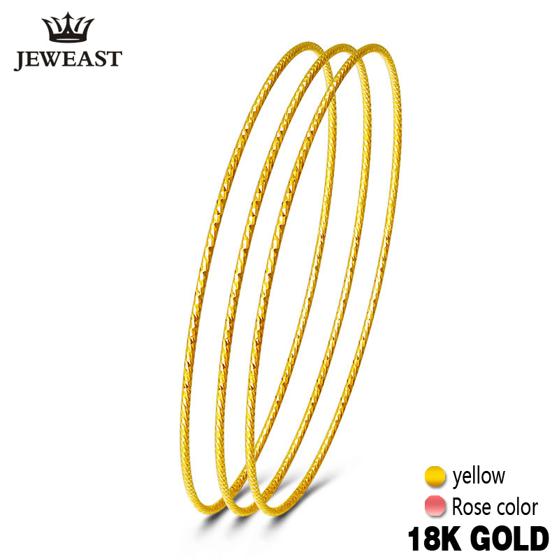 18k Pure Gold Bangles 2020 New Rose Yellow Women Bracelets Wholesale 750 Hot Sale Elegant Temperament Party Classic Round GOOD